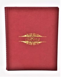 Picture of ( 8.5 x 11-Inch )Menu Cover red wine Leather-Like Booklet Four-Views
