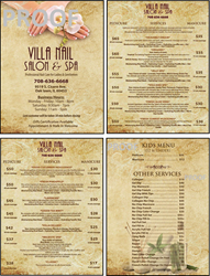 Picture of Menu #029 (2 pages 4 views)