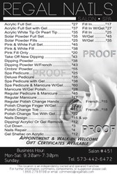 Picture of Poster Price List # 037